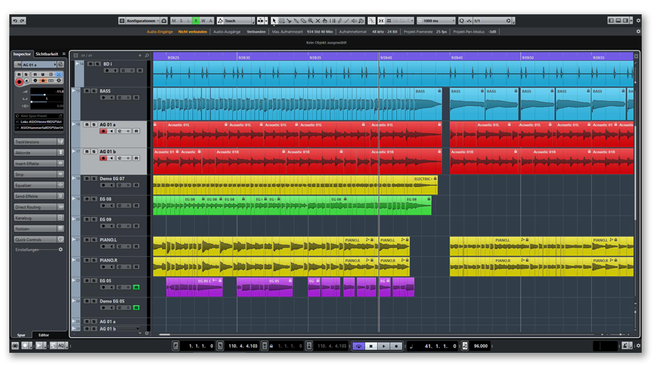 Screenshot Cubase 9.5